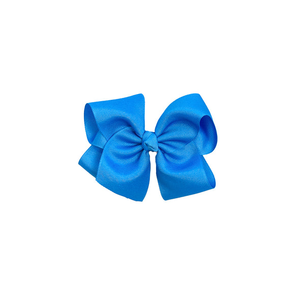 April Showers Medium Blue Classic Bow
