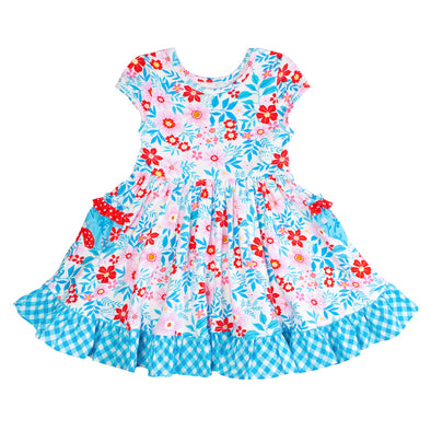 Ladybug Floral Knit Louise Dress