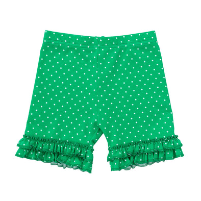 Bright Green Brailey Ruffle Knit Shorts