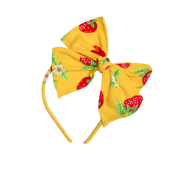 Strawberries Yellow Bea Headband