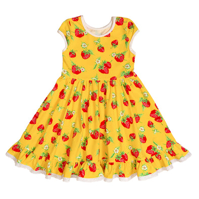 Strawberries Knit Louise Dress