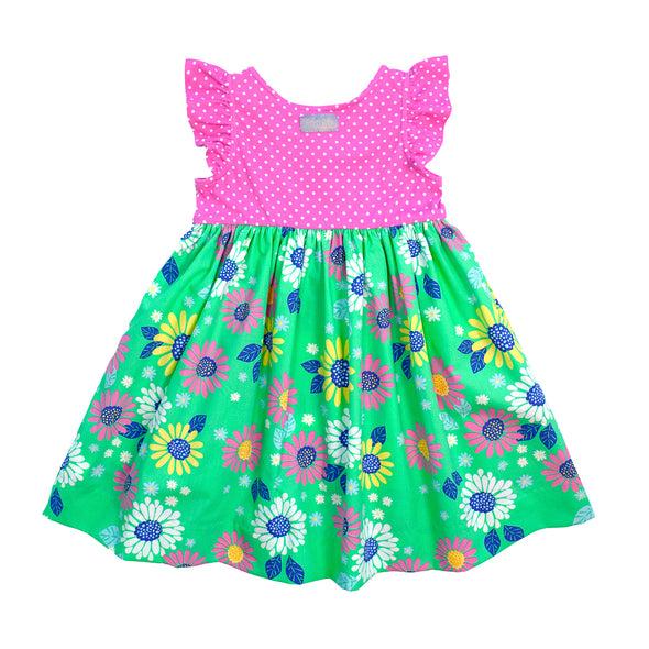 Green Floral Kirby Dress