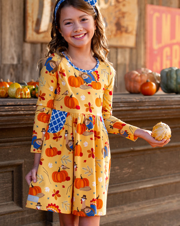 Turkey All Knit Long Sleeve Dress