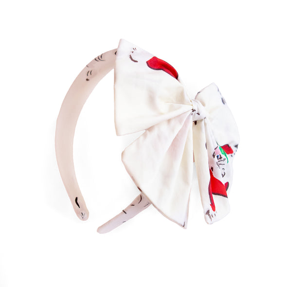 Cream Santa Bea Headband