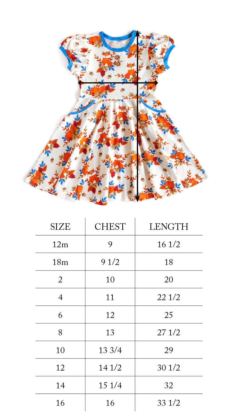 Grateful and Blessed Fox Circle Skirt Dress