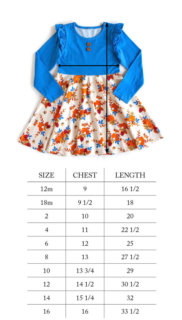 Grateful and Blessed Fox Ruffle Dress