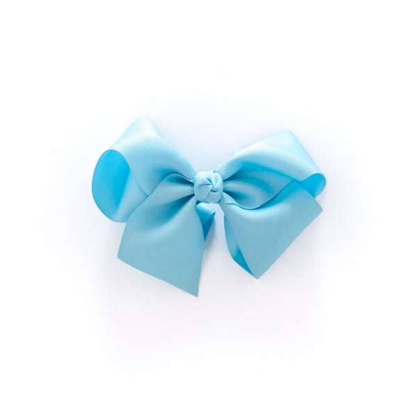 Spring Break Blue Medium Classic Bow