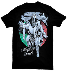 """Aztec Warrior Mexican Pride"" T-Shirt"