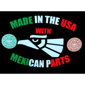 """Made In The USA With Mexican Parts"" Kids T-Shirt"