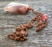 Load image into Gallery viewer, Handmade Copper Necklace w/Cherry Quartz