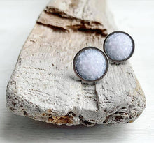 Load image into Gallery viewer, White Geode Stud Earrings