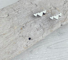 Load image into Gallery viewer, Stainless Steel Trio of Hearts Stud Earrings