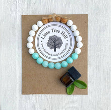 Load image into Gallery viewer, Lava Aromatherapy Bracelet w/Amazonite + Wood