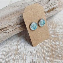 Load image into Gallery viewer, Storm Geode Stud Earrings