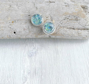 Storm Geode Stud Earrings