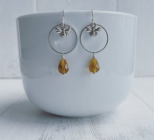 Bumblebee + Honey Drop Earrings