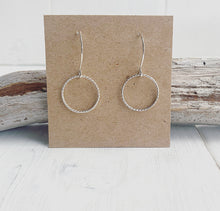 Load image into Gallery viewer, Handmade Sterling Silver Hoop Earrings