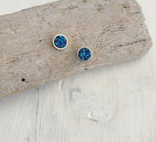 Load image into Gallery viewer, Winter Solstice Geode Stud Earrings Set of 3