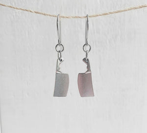 Miniature Cleaver Dangle Earrings