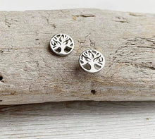 Load image into Gallery viewer, Stainless Steel Tree of Life Stud Earrings