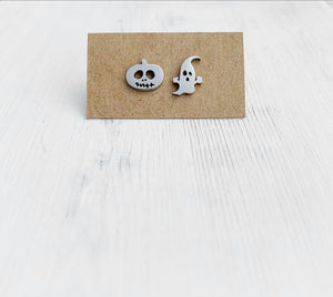 Stainless Steel Halloween Stud Earrings