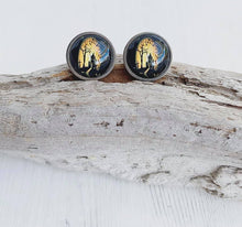 Load image into Gallery viewer, Haunted House Stainless Steel Stud Earrings