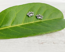 Load image into Gallery viewer, Stainless Steel Lotus Flower Stud Earrings