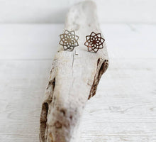 Load image into Gallery viewer, Stainless Steel Mandala Stud Earrings