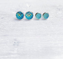 Load image into Gallery viewer, Geode + Mermaid Collection Stud Earrings Set of 4