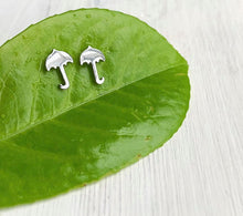 Load image into Gallery viewer, Stainless + Silverplated Stud Earrings