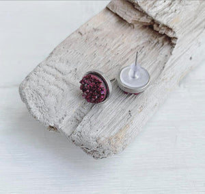 Fall Collection Geode Stud Earrings Set of 5
