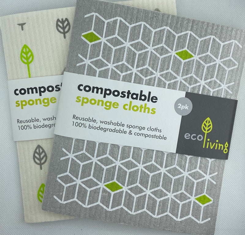 Compostable Sponge Cleaning Cloths x 2