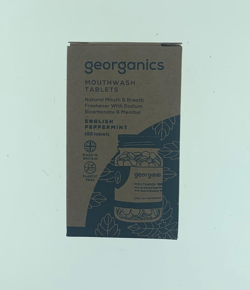 Georganics Mouthwash Tablets - English Peppermint
