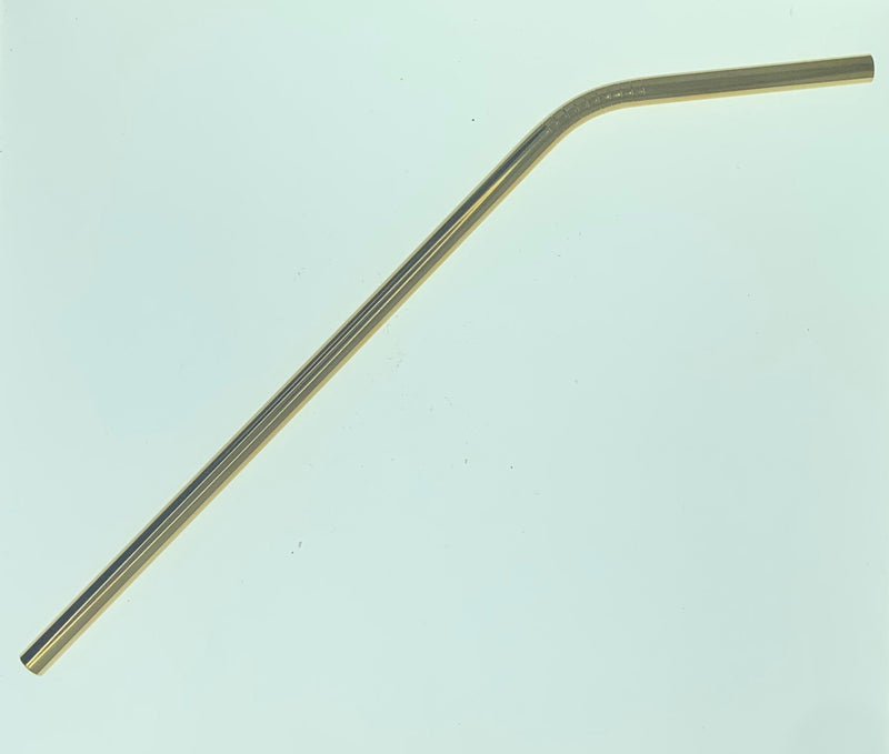 Metal Straw - Bend - Gold