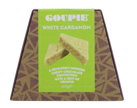Goupie White Chocolate & Cardamon 160g