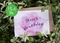 Plantable Splash Happy Birthday Card