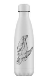 Chillys Bottle 500ml - White Turtle