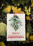 5 x Plantable Xmas Card Merry Christmas