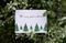 5 x Plantable Xmas Card 7 Trees
