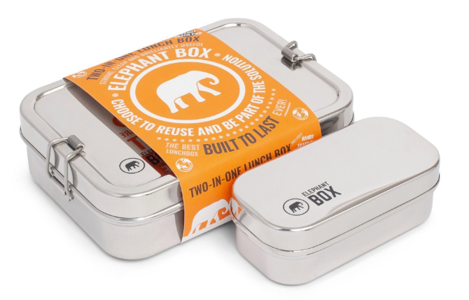 Elephant Box Stainless Steel - Two in One Lunchbox