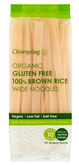 Wide Brown Rice Noodles - Gluten Free