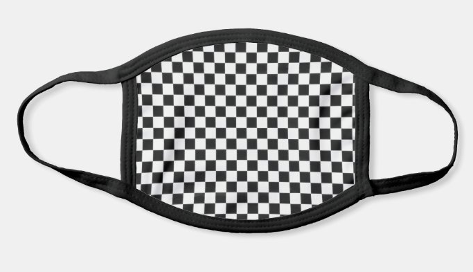 Black Checkers Mask!