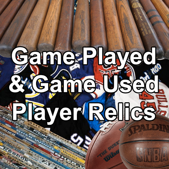 Game Played & Game Used Player Relics [ALL]