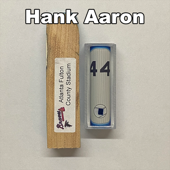 Aaron, Hank #44 - Game Played Relic