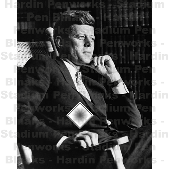 John F Kennedy - Black Cloth Embedded blank