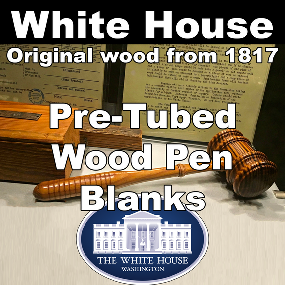 White House – Pre-Tubed Wood Pen Blanks
