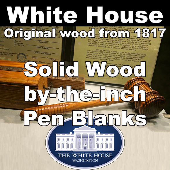 White House – Solid Wood Pen Blanks