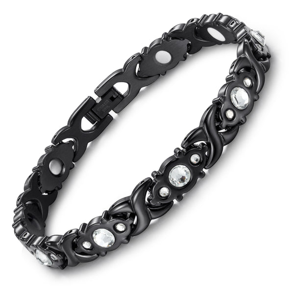 Valentine's Day Gifts - Stainless Steel Magnetic Bracelets , OSB-1541BKWFIR