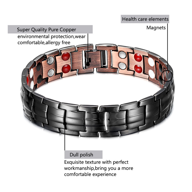 Copper Magnetic Bracelets for Joint Pain , OCB-1537FIRGUN