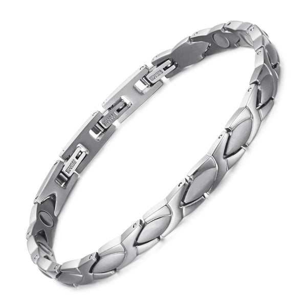 Titanium Most Effective Magnetic Bracelets , Silver , OTB-016S